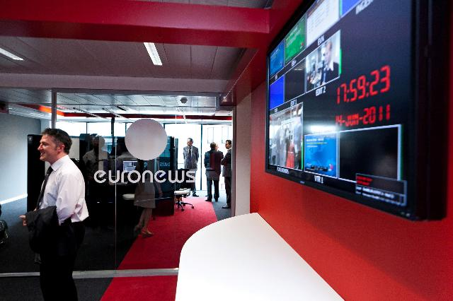 Participation of Viviane Reding, Vice-President of the EC, at the inauguration of the Euronews office in Brussels