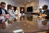 Visite de Máire Geoghegan-Quinn, membre de la CE, aux Etats-Unis