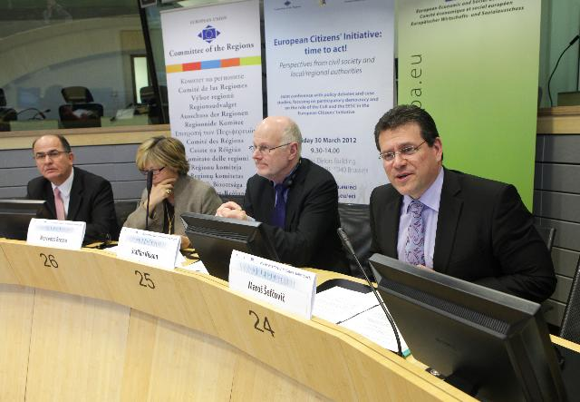 Participation of Maroš Šefčovič, Vice-President of the EC, in the European Citizens' Initiative: time to act! conference
