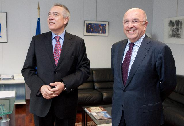 Visit of Pere Navarro i Morera, First Secretary of the PSC, to the EC