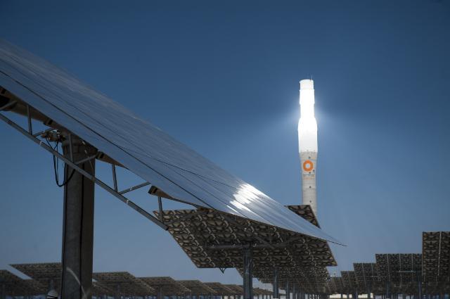The Gemasolar solar plant in Fuentes de Andalucía, Spain