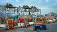 The ECT- Europe Container Terminals in Rotterdam