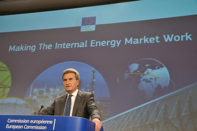 Press conference by Günther Oettinger, Member of the EC, on Internal Energy Market