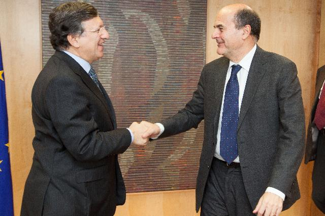 Visit of Pier Luigi Bersani, Secretary of the Italian Democratic Party, to the EC