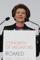 Androulla Vassiliou attends the first Congress of Roma mediators from the Council of Europe/EC ROMED programme