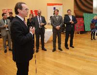 Participation of Algirdas Šemeta in the opening of the exhibition of Audrius Gražys