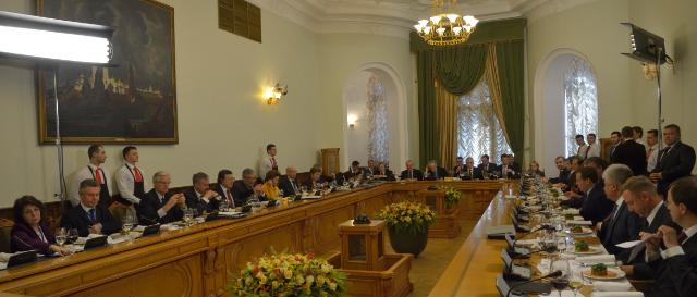 Meeting between the Russian government and the College of the EC