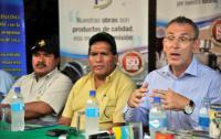 Visite d'Andris Piebalgs, membre de la CE, en Bolivie