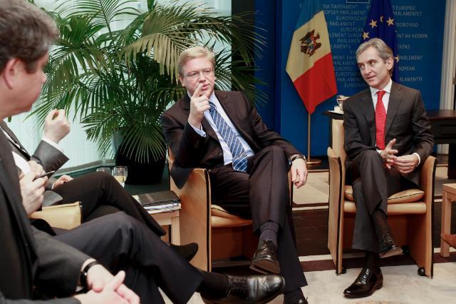 Rencontre entre Štefan Füle, membre de la CE, et Iurie Leancă, Premier ministre moldave