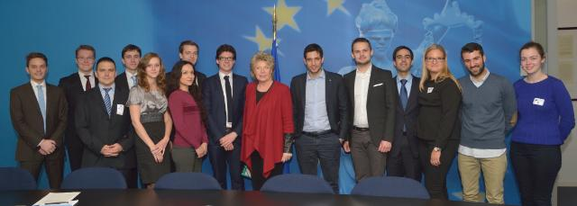 Visit of Members of the Youth of the European People's Party to the EC