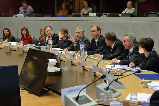 Participation of Antonio Tajani and Kamel Ben Naceur at the plenary assembly of the EU/Tunisia Council on entrepreneurship
