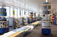 The information centre 'Europe Info Europa' of the Schuman roundabout