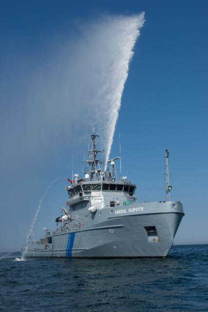 Multifunctional ship cleaning pollution (environment), in Tallin Estonia