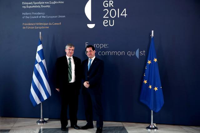 Participation de Tonio Borg, membre de la CE, à la réunion informelle des ministres européens de la Santé à Athènes