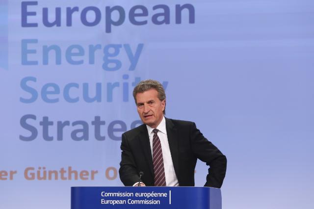 Press conference by Günther Oettinger, Member of the EC, on the EC's adoption of a European Energy Security Strategy