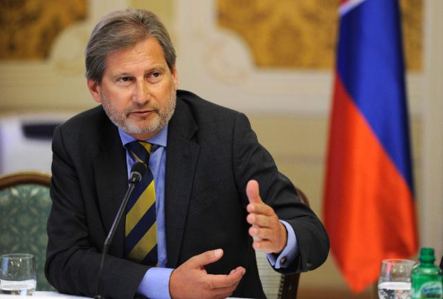 Joint press conference by Johannes Hahn, Member of the EC, and Robert Fico, Slovakian Prime Minister, on the adoption of the Partnership Agreement with Slovakia