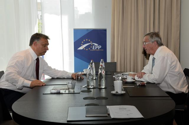Meeting between Viktor Orbán, Hungarian Prime Minister, and Jean-Claude Juncker, President-elect of the EC