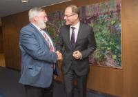 "Illustration of ""Visit of Franz Fischler, President of the European Forum Alpbach, to the EC"""