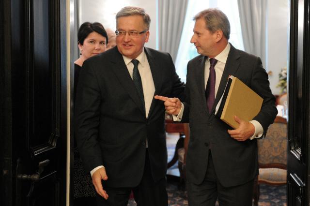 Visite de Johannes Hahn, membre de la CE, en Pologne