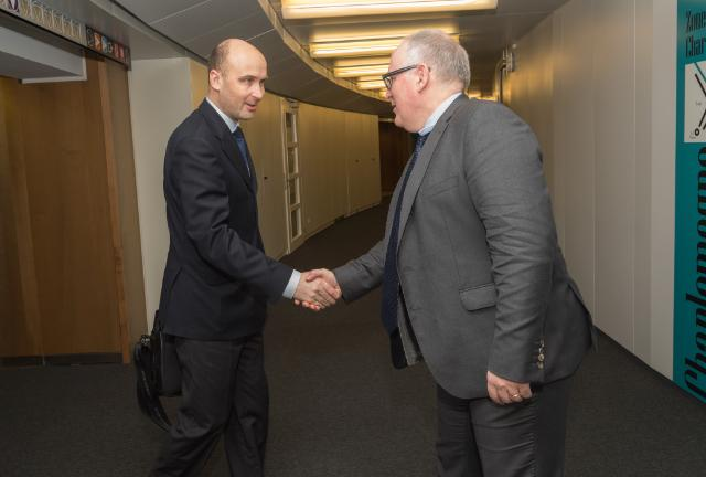 """Illustration of """"Visit of Marcin Korolec, Polish Secretary of State for the Environment responsible for Climate Policy, to..."""