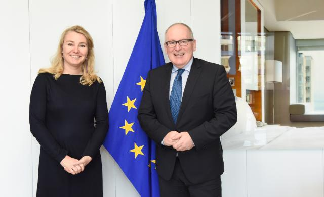 Visit of Melanie Schultz van Haegen, Dutch Minister for Infrastructure and Environment, to the EC