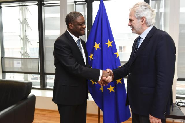 Visite de Denis Mukwege, fondateur et directeur médical de l'Hôpital Panzi à Bukavu, et lauréat du Prix Sakharov pour la Liberté de Pensée 2014, à la CE