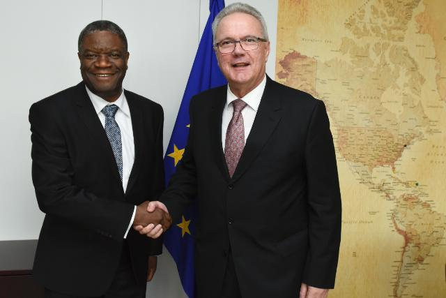 Visit of Denis Mukwege, Founder and Medical Director of the Panzi Hospital in Bukavu, and 2014 Sakharov Prize for Freedom of Thought Laureate, to the EC