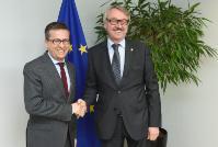 Visite de Günter Stock, président de l'ALLEA, à la CE