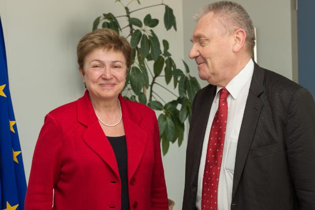Kristalina Georgieva receives Jean-Pierre Bourguignon, President of the European Research Council (ERC)