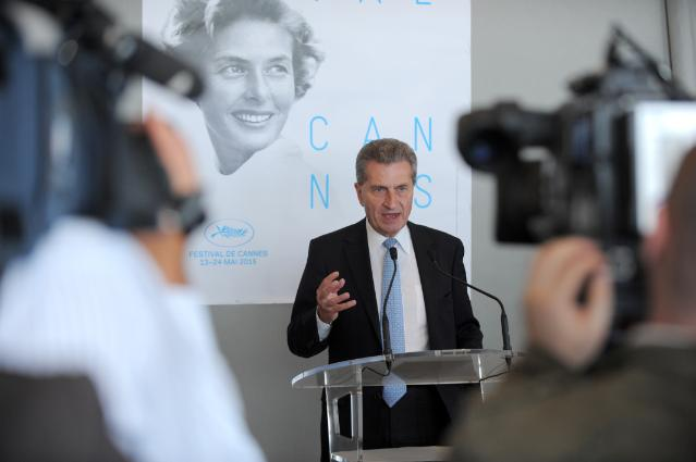 Participation of Günther Oettinger, Member of the EC, at the 68th edition of the Cannes International Film Festival