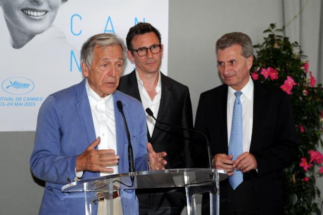 Participation de Günther Oettinger, membre de la CE, à la 68e édition du Festival international du film de Cannes