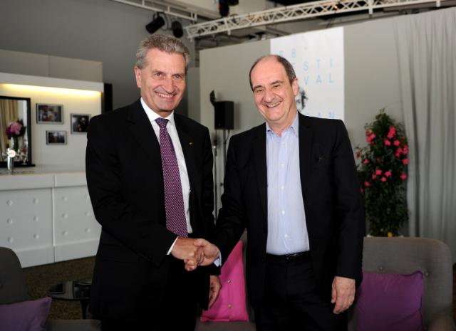 Participation de Günther Oettinger, membre de la CE, à la 68e édition du Festival international du film de Cannes