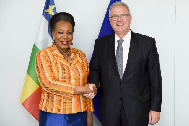 """Illustration of """"Visit of Catherine Samba Panza, President ad interim of the Central African Republic, to the EC"""""""