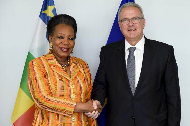 Visite de Catherine Samba Panza, présidente ad interim de la République centrafricaine, à la CE