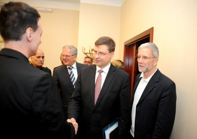 Visit of Valdis Dombrovskis, Vice-President of the EC, to Croatia