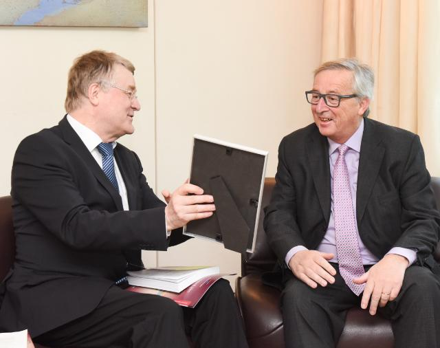 Meeting between Markku Markkula, President of the Committee of the Regions, and Jean-Claude Juncker, President of the EC