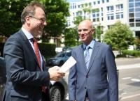Visite de Tibor Navracsics, membre de la CE, à l'Agence exécutive 'Education, Audiovisuel et Culture'