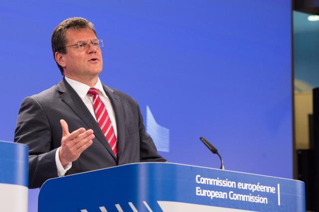 Press conference by Maroš Šefčovič on the EU-Russia-Ukraine trilateral gas talks in Vienna