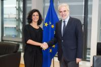 Visit of Marie Arena, Member of the EP, to the EC