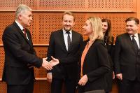 Visite de Dragan Čović, président de la présidence collégiale de la Bosnie-Herzégovine, Bakir Izetbegović, membre bosniaque de la présidence collégiale de la Bosnie-Herzégovine, et Josip Brkić, ministre adjoint des Affaires étrangères de Bosnie-Herzégovine, au PE