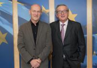 Visite de Pascal Lamy, président d'honneur de Notre Europe - Institut Jacques Delors, à la CE