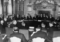 The opening of the European Summit of Leaders of the six