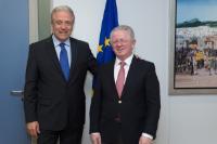Visite de Skender Hyseni, ministre kosovar de l'Intérieur, à la CE