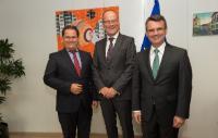 Visite d'Andreas Großbauer, Président de l'Orchestre philharmonique de Vienne, et Harald Krumpöck, directeur général de l'Orchestre philharmonique de Vienne, à la CE