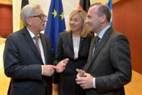 Participation of Jean-Claude Juncker, President of the EC, in a reception for the election of the Presidency 2017-2019 of the EPP Group in the EP