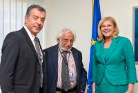 Meeting between Stavros Theodorakis, Leader of the Greek Potami Party, and Corina Creţu, Member of the EC, in Strasbourg
