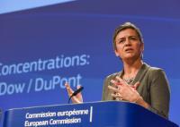 Press conference by Margrethe Vestager, Member of the EC on a merger case.