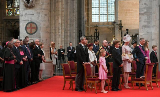 Jean-Claude Juncker, président de la CE, participe au Te Deum à l'occasion de la fête nationale belge à la cathédrale de Saint-Michel et Saint-Gudule de Bruxelles