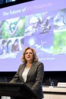 Participation de Günther Oettinger, Corina Creţu, et Mariya Gabriel, membres de la CE, à la conférence sur l'avenir des finances de l'UE
