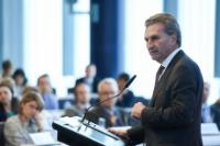 Participation of Günther Oettinger, Corina Creţu, and Mariya Gabriel, Members of the EC, at 'The future of EU finances' conference